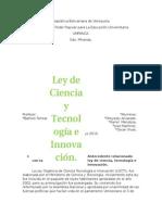LEY ORGANICA DE CIENCIA, TECNOLOGIA E INNOVACION..docx