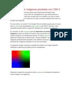 Cómo Mostrar Imágenes Pixeladas Con CSS 3