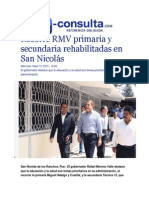 13-05-2015 E-consulta.com - Recorre RMV Primaria y Secundaria Rehabilitadas en San Nicolás