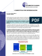 La ventaja competitiva por diferenciacion