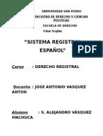 Trabajo Sistema Registral Español