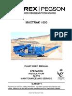 1000 Maxtrak Plant User Manual 2008 (L)