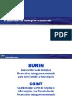 Transferencias Intergovernamentais - STN