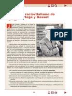 El raciovitalismo de Ortega y Gasset