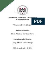 Sociología Jurídica-Concepto de Sociología