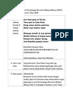 Teks Pengacara Majlis Pertandingan Bercerita Bahasa Melayu SJK