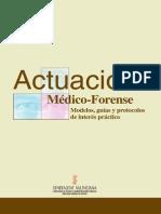 Beltrán Aleu, P. Actuación Médico-Forense. Modelos, Guías y Protocolos de Interés Práctico