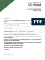 Sampath Bank-Tax Declaration