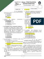 EXAMEN BIMESTRAL DE PSICOLOGÍA .- 5°