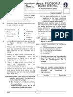 EXAMEN BIMESTRAL DE FILOSOFIA 4°