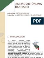 1035 370710 20141 0 20132 0 Presentacion - La Defensa Nacional y El Desarrollo
