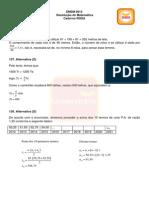 Resolução Matemática - Enem 2013