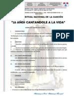 Bases Del i Festival Nacional de La Cancion