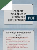 Aspecte Fiziologice În Afecțiunile Gastrointestinale