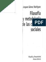 Gómez, Filosofía y Metodología, 2003.