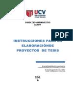 Instrucciones Proyecto de Tesis.2014-II UCV-ADMINISTRACIÒN