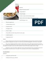 Recetas de Comida en Ingles
