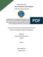 Proceso de nivelación y resultados de pruebas Nacionales de R. D.