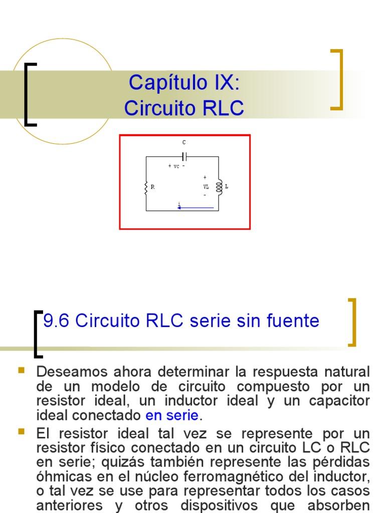 Circuito Lc : Cap b rlc serie