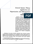 General System Theory -  Applications for Organization and Management