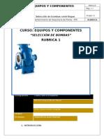 Selección bombas centrifugas