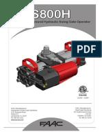 Faac Modelo s800h e024u 02