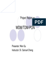 Wen Gu - Presenation on WDMTDM-PON
