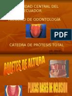 Placas Bases de Oclusion.