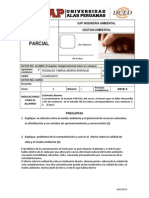 Examen Parcial Gestion Ambiental