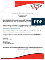 Rfp 2015 11 Disposal of Asset May 2015