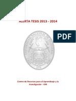 Alerta de Tesis 2013-2014