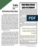 MIMBAR 24 - Rejab 1436H/Mei 2015M