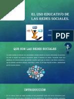 El Uso Educativo de Las Redes Sociales