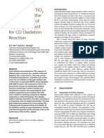 Properties of TiO2 Support and the Performance of Au/TiO2 Catalyst for CO Oxidation Reaction