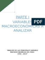 Análisis de Las Principales Variable Macroeconomicas Del Perú