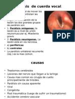 Patologias Organicas de La Voz