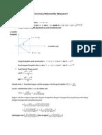 Matematika Rekayasa II Ringkasan Dan Soal