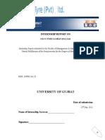 CECO TYRE GUJRAT (Pvt.) Ltd. Internship Report
