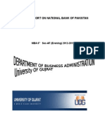 Internship Report of National Bank of Pakistan
