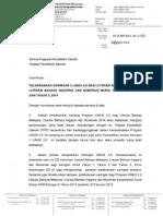 Surat Pelaksanaan Saringan