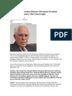 Seventh Day Adventist Reform Movement President Explains the Century