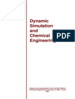 Dynamic Simulation and Chemical Engineering
