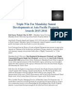 Triple Win for Mandalay Samui Developments at Asia Pacific Property Awards 2015-2016