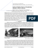 Structural Evaluation of Stainless Steel as a Strengthening Material