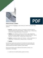 producción, usos y propiedades de algunos materiales