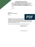 Surat Ucapan PKL