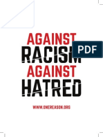IERA Against Racism Against Hatred Leaflet