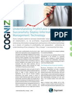 Understanding Profit/Loss Lineage to Successfully Deploy Information Management Technology