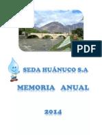 Memoria Anual SEDA HUÁNUCO 2014
