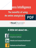 Business Intelligence - benefits of using  An online analytical solution